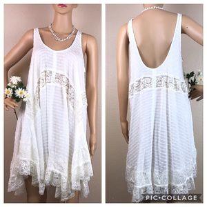 Olivaceous Dresses - Olivaceous Eyelet Dot Lace Trapeze Tent Dress